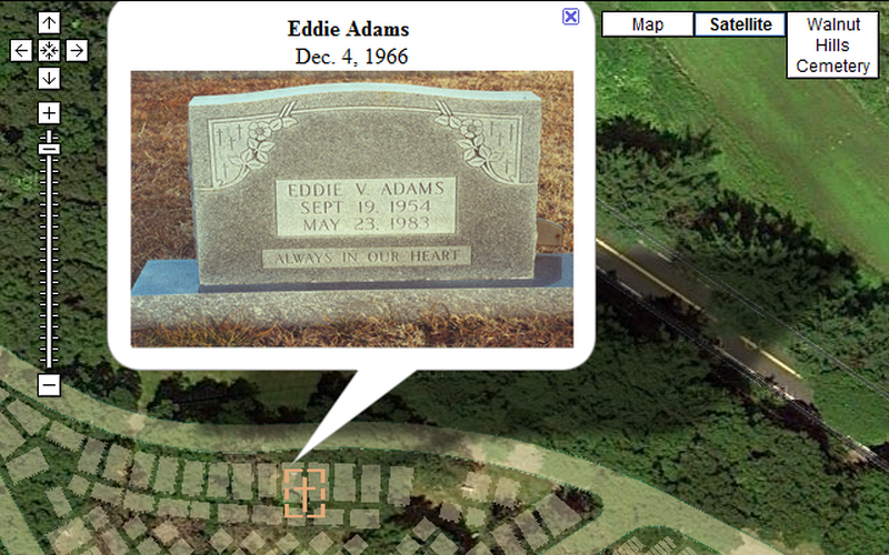 Cemetery Mapping Via Google Maps